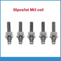 Wholesale Evod Mt3 Heating Coil Head - Wholesale- 50pcs Replaceable MT3 Atomizer Coil Heads replacement heating core for electronic cigarette clearomizer tanks Evod MT3 T3S H2