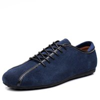 Wholesale Trendy Casual Shoes For Men - New 2017 Autumn Winter Men Shoes Casual Suede Mens Shoes Leather Height Increasing Thick Heel Trendy Comfortable Shoes for Men