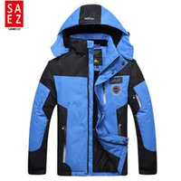 Wholesale Snowboard Jackets Brands - Wholesale- 2016 New Ski Jacket Men Waterproof Winter Snow Jacket Thermal Coat For Outdoor Mountain Skiing Snowboard Jacket Brand