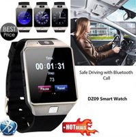 Wholesale Mp3 Bluetooth Camera Watch - DZ09 smart watch for Apple android phone support SIM TF card MP3 smartwatch with camera Anti-lost pk gt08 A1 Bluetooth watch