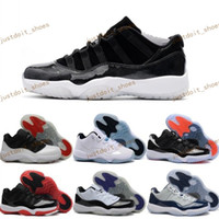 Wholesale Cream Gun - Navy Gun Retro 11 Cherry Low Basketball Shoes Sneakers GS Space Retro 11s 72-10 Cheap Athletic Men's Sport Shoes XI