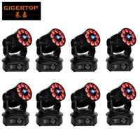 Wholesale Dual Moving Head - Gigertop 8X 200W Led Moving Head Spot Wash Dual Light 75W Huiliang  12W 6IN1 Tyanshine Led LED Display 21 Channels Freeshipping