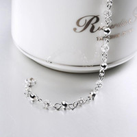 Wholesale Womens Stainless Steel Bangle - 925 String Silver Bracelets Top Quality Jewelry Womens S925 Silver Bracelet Bangle Hallow Out Chain Romantic Luxury Jewellery Accessories