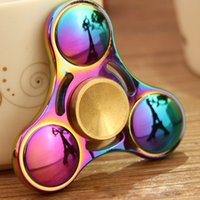 Wholesale Colorful Lighting Direct - Rainbow Fidget Spinner Colorful EDC Gyro Toys Hand Spinner Fidget Aluminum Fidget Hand Spinner Professional Factory Direct Sales