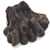 aunty funmi örgü toptan satış-Ombre Teyze Funmi Saç Uzantıları Çift Çizilmiş 3 adet Ombre Perulu Saç Örgü% 100% İnsan Saç 8-30 inç FDSHINE
