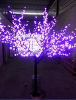 Wholesale Blue Night Light Bulbs - LED Night Light Cherry Blossom Tree Light 864pcs LED Bulbs 2m Height 110 220VAC Pink Rainproof Outdoor Use Free Shipping LLFA