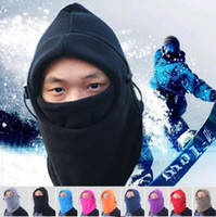 Wholesale Boys Winter Face Mask - 9Color winter warm Fleece beanies hats for men skull bandana neck warmer balaclava ski snowboard face mask Thickening catch balaclavas b272