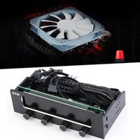 """Wholesale High Temperature Ball Bearings - Wholesale- STW High Quality 5.25"""" LCD Panel Fan Speed Temperature Controller Governor PC Hardware Protector Hot Sale in stock!!!"""