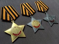 Wholesale Russia Medals - Commercial edition of the Soviet Medal of Honor 1 2 3 a set of World War II German medal Stalin Lenin Russia
