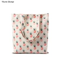 Wholesale Wholesale Designer Hand Bags - Wholesale-designer hand bag pineapple canvas handbag white canvas bag cute bags women sac a main femme de marque bolsa em lona feminina