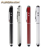 Wholesale Multifunction Stylus Pen - Wholesale- 4 in 1 multifunction stylus pen touch pen ball pen with laser light mini torch for touch screen mobiles tablet pc and iphone