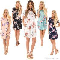 Wholesale Mini Pocket Trumpet - Womens Summer Short Mini Dress Ladies Sleeveless Beach Evening Party Sundress
