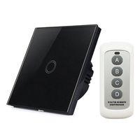 livolo uzaktan kumanda anahtarı toptan satış-Yeni AB Standardı Dokunmatik Anahtarı 1 Gang Akıllı Ev Kablosuz RF433 WIFI Uzaktan Kumanda Işıkları Anahtarı VS Livolo Duvar Akıllı Anahtarı