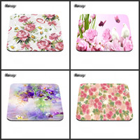 Mouse Pad painted computer desk - Flower Buds Painting Texture Best Game Custom Mousepads Rubber Pad to decorate your computer desk and family