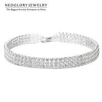 Wholesale Wholesale Trendy Fashion Bracelets - Neoglory Charm Beads Wrap Chain Bangles & Bracelets Girl Trendy Fashion Bridal Wedding Snaps Fashion Women Bangle Jewelry