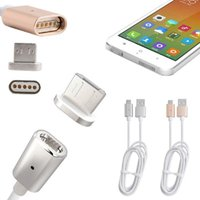 Wholesale Smart Charger For Android - Magnetic 1M 2.4A Micro USB Charging Cable Charger Cord Metal Adapter For Type-C Android Smart Phones
