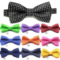 Wholesale boys bowties for sale - Group buy 18 Colors New kids Bowties Children ties bow ties boys bow tie pure color bowtie Stars Check Polka Dot Stripes