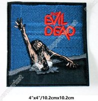 Wholesale Evil Cosplay Costume - Evil Dead Iron On Patches Embroidered Badge Horror Movie Film TV Series halloween cosplay costume diy badge for clothing party favor