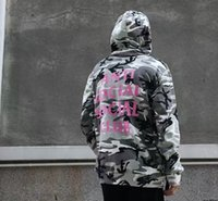 Wholesale Camouflage Jacket Hood - Camouflage Mens Hoodies Kanye Autumn Winter Pullover Sweatshirts Lover casual with a hood sport jacket men coat hoodies