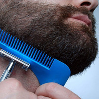 Wholesale Plastic Model Tools - Beard Bro Shaping Tool Styling Template BEARD SHAPER Comb for Template Beard Modelling Tools 6 Colors with Colorful Box 3006038