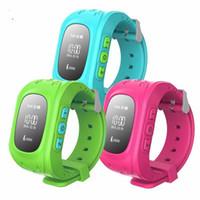 Wholesale Wristwatch Gps - New Q50 GPS Smart Kid Safe smart Watch Finder Locator Tracker for Child Anti Lost Monitor Baby Son Wristwatch