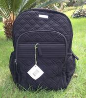 Wholesale Back School Backpacks - VB Campus Backpack Black Microfiber Back to School College NWT Backpack School Bag Travel College 100% real