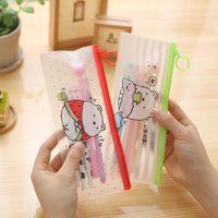 Wholesale File Storage Case - Wholesale- 22x9.3cm cute potato waterproof pencil bag PVC pencil file storage case & bag for school zipper Student Prize