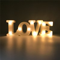 30cm * 4.5cm * 10cm LOVE Shaped Night Lamp Warm White LED Lampada da tavolo Camera da letto di Natale Wedding Party Decorative Atmosfera luci