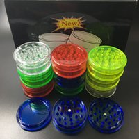 Wholesale Herb Grinders For Cheap - cheap 60mm herb grinder 3 piece Grinder for Smoking Acrylic Plastic Dry Herb Grinder Smoke Detectors Pope Smoking Pipes Grinders