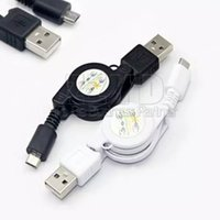 Wholesale Retractable Mini Usb - Mini Flexible Retractable Mobile Phone Cable Micro USB 2.0 Sync Data Line Charger Cord For Samsung Galaxy S6 S5 S4 Blackberry Nokia