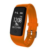 bluetooth daten großhandel-S1 Pulsmesser Smart Armband Schrittzähler Sport Datensatz GPS Tracker Anti-verlorene Uhr Bluetooth 4.0 Smart Wristbands