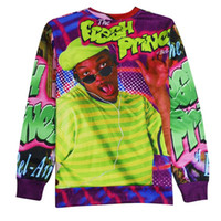 Wholesale Fresh Hoodies - Wholesale-Fresh Prince of Bel Air Will Smith 3D Sweatshirt Long Sleeve Hoodies Crewneck Pullovers Hip Hop Sweats Tops Drop Shipping