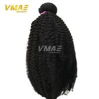 Wholesale Virgin Hair Weft 4a - Mongolian Kinky Curly Virgin Hair Afro Kinky Curly Hair 3 Bundles 4A 4B 4C Curly Weave VMAE Human Hair Extensions Black Women