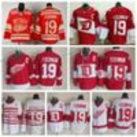 Wholesale Detroit Patch - Mens Throwback Detroit Red Wings #19 Steve Yzerman Hockey Jerseys Home Red Vintage Winter Classic Red White Steve Yzerman Jersey C Patch