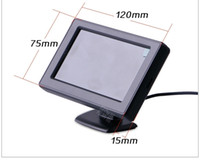 Wholesale Post Display - 4.3inch TFT LCD screen car monitor PZ703 2 way video input DC12V Automatically display when reversing POST