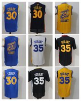 Wholesale Men S Chinese Shirts - New Arrival 35 Kevin Durant Chinese Men Jersey 2017 New Year 30 Curry Shirt Stitched Jerseys