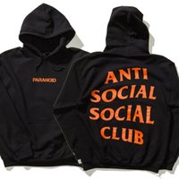 Wholesale Women Clothing Outlets - 2017 Outlets Fashion YEEZYU Anti social social club Hoodies With box Logo men's Kanye West undefeated Hoodie sweater autumn palace Clothing