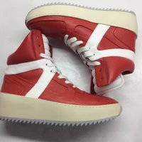 Wholesale Red Mail - FREE SHIPPING Fear of God, 1987 Collection edition retro leather RED high help FOG basketball boots was 35-46 yards from mail lovers shoes