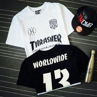Wholesale T Shirt Skate Wholesale - Wholesale- Men t-shirt hip hop t shirt men streetwear skate tshirt harajuku swag fashion Couple clothing camisa masculina