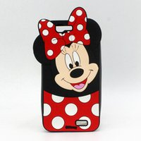 Wholesale Rubber Polka Iphone Case - Fashion 3D Cartoon Mickey Minnie Mouse Polka Dot Soft Silicon Case For Huawei Ascend G7 P8 5.2 P9 Lite P8lite Rubber Cover Shell Phone Cases