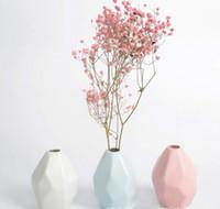 keramik blumen verkauf großhandel-Keramik Vase Blumentopf dekoration Blumentöpfe Kreative Blumenvasen Ikebana Für Hochzeit Bürobedarf Heißer Verkauf