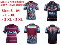 Wholesale eagle shirts - Free shipping!NRL National Rugby Manly Sea Eagles jersey High-temperature heat transfer printing jersey Rugby Shirts