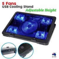 Wholesale 5 Fans quot quot LED Lights USB Adjustable Cooling Stand Pad Laptop Notebook