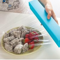 Wholesale Foil Wrap Dispenser - Home Foil Cling Film Cutter Wrap Dispenser Cutter Plastic and Stainless Steel Storage Roll Holder Kitchen Tool ZA3195