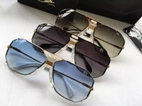 Wholesale Sky Sunglasses - CAZALS 905 VINTAGE WHITE GOLD   SKY BLUE SUNGLASSES MENS Brand New with Case Box
