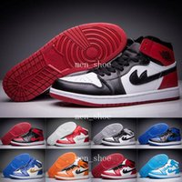 Wholesale Silk Black Cheap Lace Top - [With Box]Cheap Air 1 Retro 1 Banned Royal High OG Bred Black Toe Top Three Men size 8 14 basketball shoes retro 1s sneaker Size 5.5-13