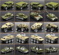 Wholesale Diecast Tanks - Metal Model Car 1:64 Diecast Cars Military Tank Dinky Toys For Children Brinquedos Em Metal Car Toy Vs Hotwheels Random Sent