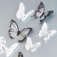 Wholesale Butterfly Decorations For Home - Crystal 18Pcs 3D Butterflies DIY home decor wall stickers for kids room Christmas party decoration kitchen refrigerator decal