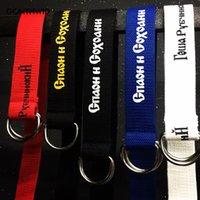 Wholesale Mens Military Canvas Belts - 2017 Gosha Rubchinskiy Printed Military Belt Mens Women Casual Canvas Metal Buckle Belt Male Fashion Hip Hop Rock Male Straps