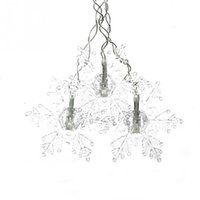 Wholesale Christmas Lights Ceiling Decorations - 3.5M 96LED Snowflake LED Curtain String Lights Lamp New Year Garden Christmas Wedding Party Ceiling Decoration 220V